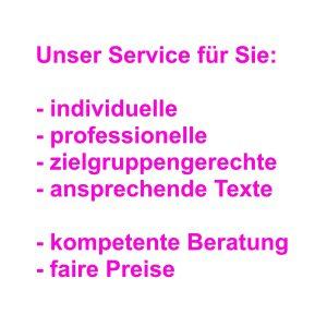 Alles was Text ist - Textagentur Osnabrück: Text-Content, Webseitentexte, Pressemitteilungen, Blogbeiträge, Artikel