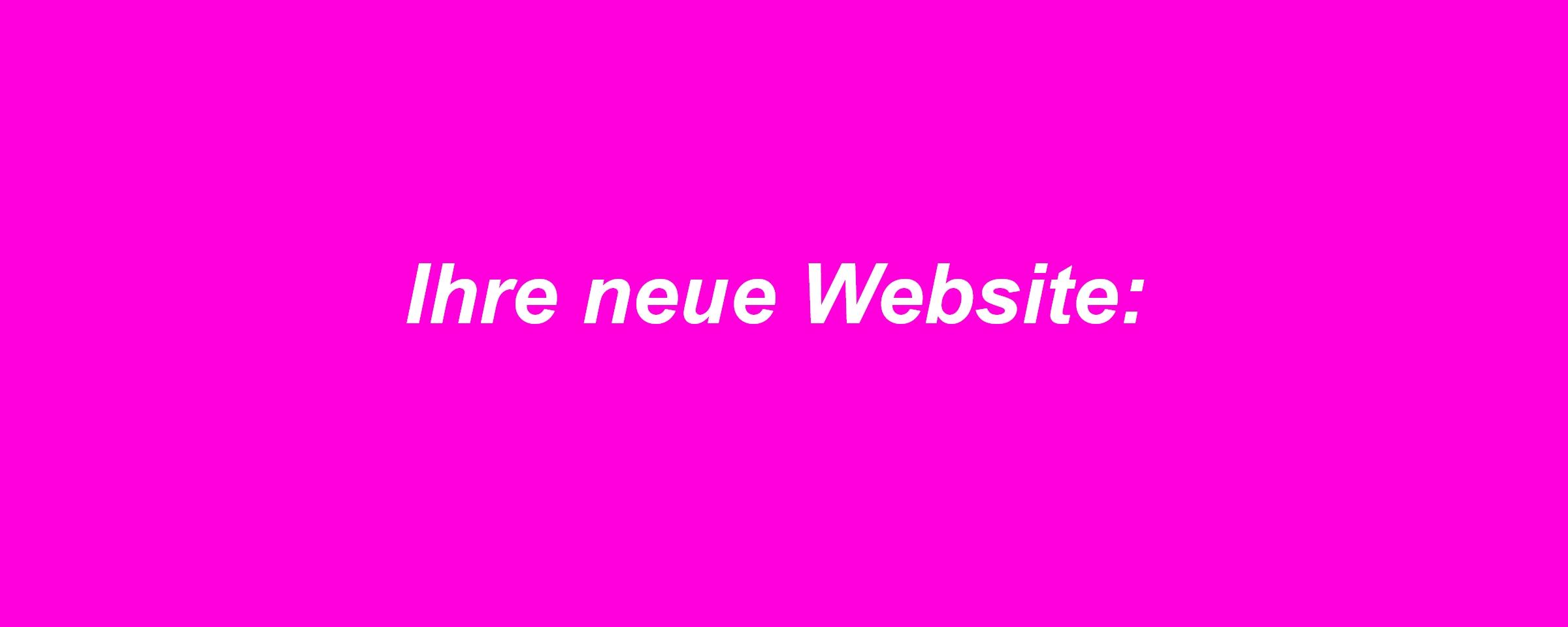 Erstellung einer neuen Website